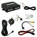Original Style 4-Sensor Car Video Rearview Visual Parking Sensor Backup Radar System #J-4750
