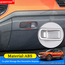 Автомобильный дизайн ABS подкладке пилот коробка для хранения декоративные блестки наклейки, украшения, аксессуары для Volkswagen T-РПЦ 2018 2019
