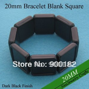 20MM Square Shaped Stretch Acrylic Blank Bracelets For Custom Photo Jewelry Making