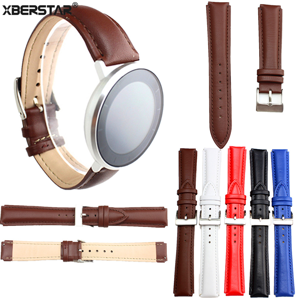 Genuine Leather Wrist Watchband strap for HUAWEI HONOR S1 WATCH replacement genuine leather wrist watchband strap for huawei talkband b3 watch