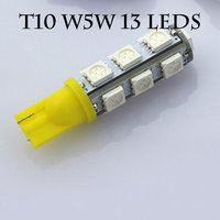 10 pcs T10 LED Car light source 13 SMD 5050 interior light lamp 12V wedge parking light auto W5W warm white cold white