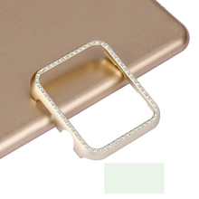 women cover For Apple watch Diamond case 42mm/38mm series 4/3/2/1 Aluminum alloy Frame strap bumper For iwatch shell 40mm 44mm pc cover case for apple watch 3 2 1 42mm 38mm iwatch series watch case colorful plating full frame protective case armor shell
