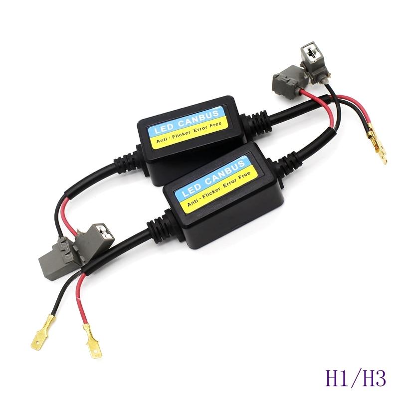Tak Wai Lee LED Car Headlight Bulb Canbus Anti Flicker Error Free Plug&Play H1 H4 H7 H13 Fog Lamp Decoder Resistor Wire Adapter