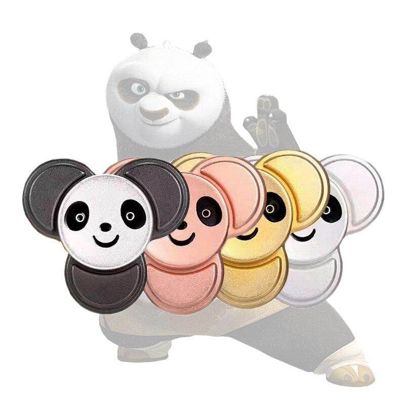 Новый стиль кунг-фу Панда Спиннеры 4 вида цветов металлическая рука Spinner уменьшить стресс и повышение внимания стресс колеса