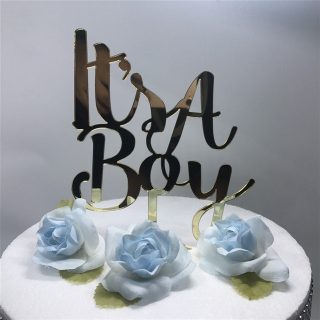 It is a BoyGirl Cake Topper Little Man Baby Shower Birthday Party