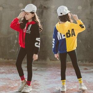 Image 2 - ילדי ערכות בגדי אביב סתיו 2019 Teen בנות אימונית סלעית סווטשירט בגדי סט עבור גדול בנות ילדים ספורט חליפות חדש