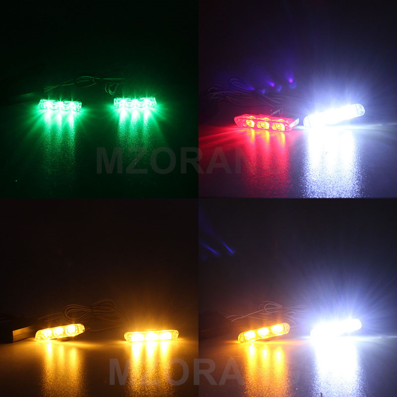 MZORANGE Strobe Light 2x3 Led Ambulance Car Truck DRL Emergency - Bilbelysning - Foto 6