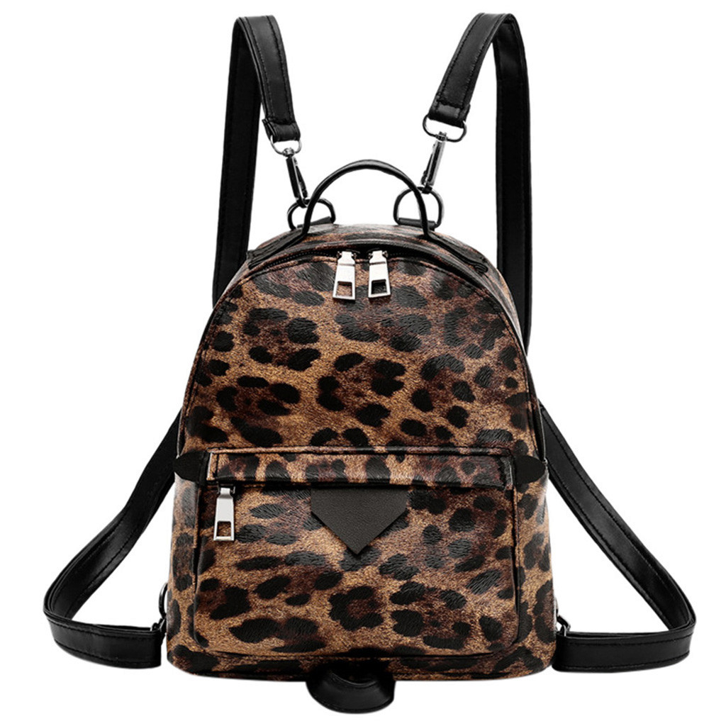 Vintage Backpack Women Fashion PU Animal Pattern Backpack Zipper Versatile Small Travel Backpacks Student Backpacks Sac A Dos +