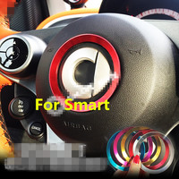 1pc Interior Aluminum Ring Sticker For Mercedes Smart Fortwo Forfour Car Accessories 2015