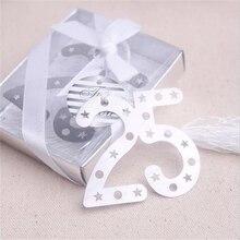 Number Bookmark Wedding Favor