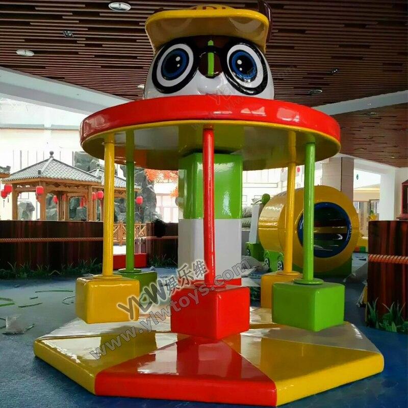 Jouets électriques mous d'intérieur d'amusement d'enfants, enfants tournant des chaises animales molles, équipement mou de jeu d'ours de bande dessinée