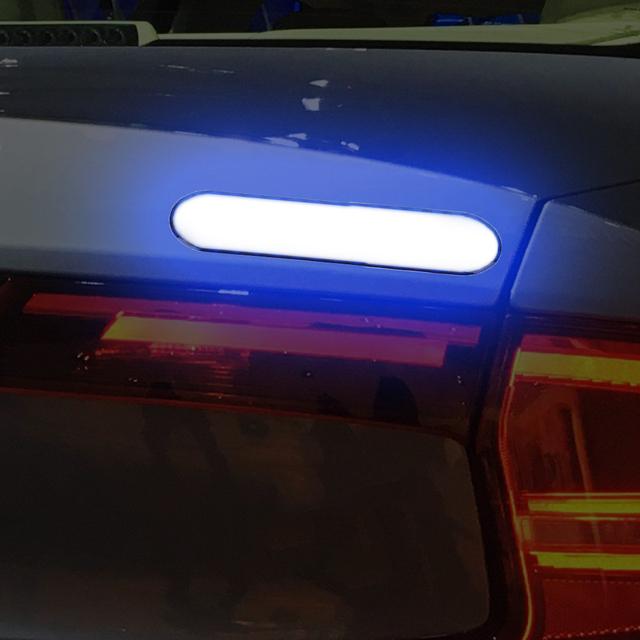 YOSOLO 2 piece/set  Reflective Strip Warning Tape Car Door Sticker Decal  Car Reflective Stickers Safety Mark