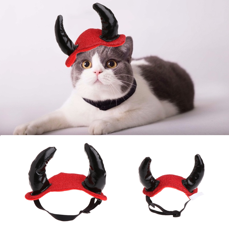Pet Puppies Antler Costume Hat Cosplay Dog Cat Kitten Puppies Hair Accessories Halloween Kitty Party Outfit Christmas New Year
