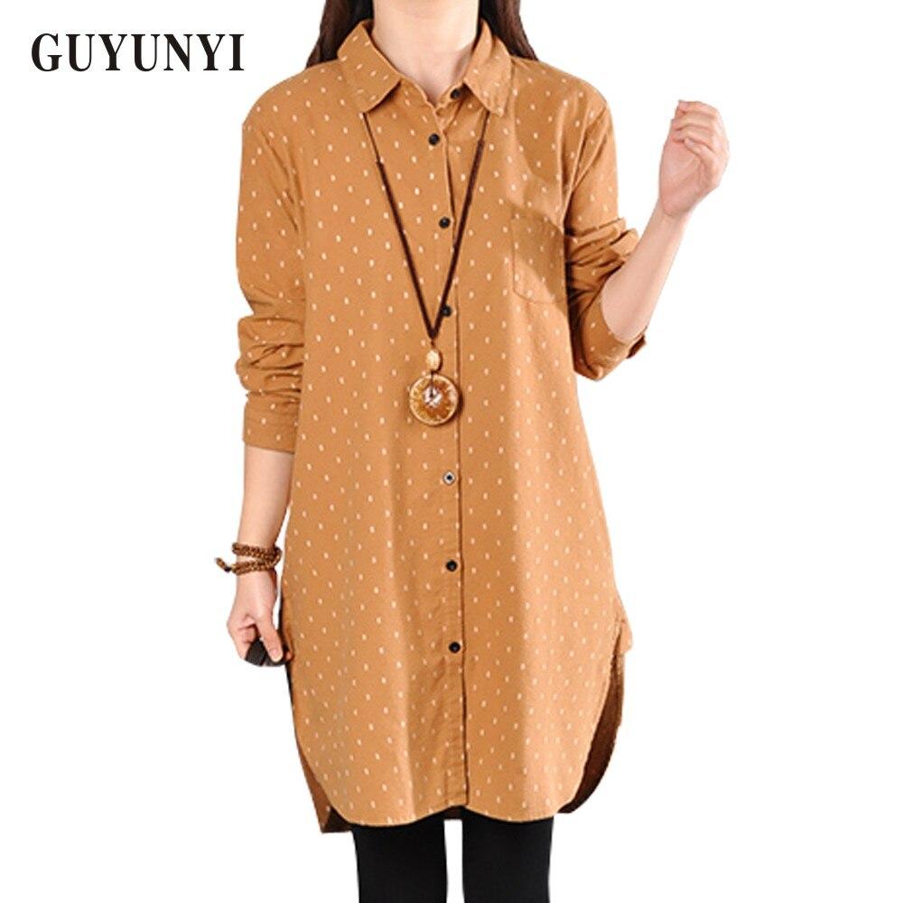 GUYUNYI   Blouse   Casual   Shirt   Female Cotton Linen Blusas 2017 Spring Long   Blouse   Feminine   Shirt   Long Sleeve   Shirts   Tops Ladies Y88