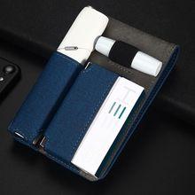 Mode cuir Portable Mini étui pour IQOS 3 sac IQOS 3.0 Multi protection étui à cigarettes couverture pour IQOS 3.0 Multi sac de transport