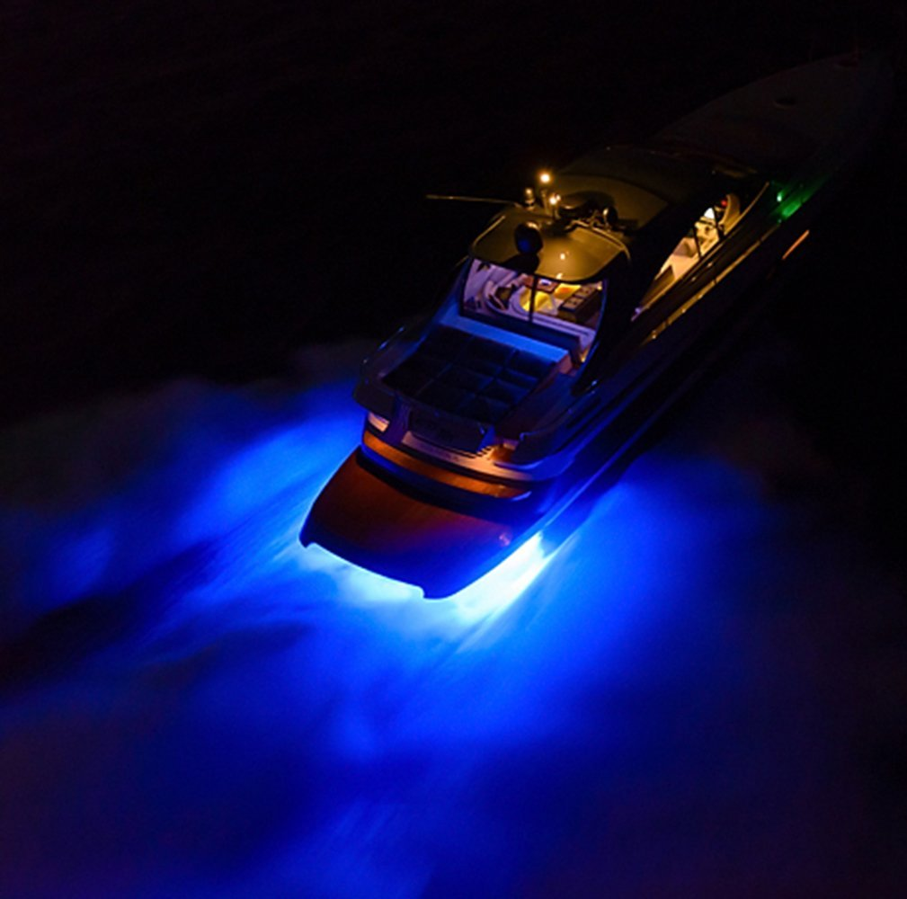 FSLH 18w Blue Stainless Steel IP68 Waterproof LED Marine Underwater Light Boat Yacht light