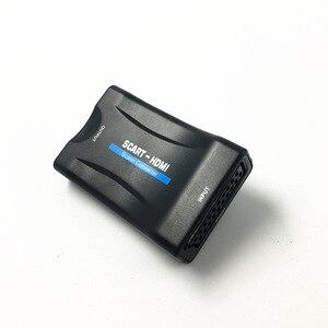 Image 2 - Hd 1080 وعاء 720 وعاء سكارت إلى hdmi فيديو أغنية تحويل تحويل SCART2HDMI محول ل hdtv dvd tvbox السماء مربع + امدادات الطاقة كابل
