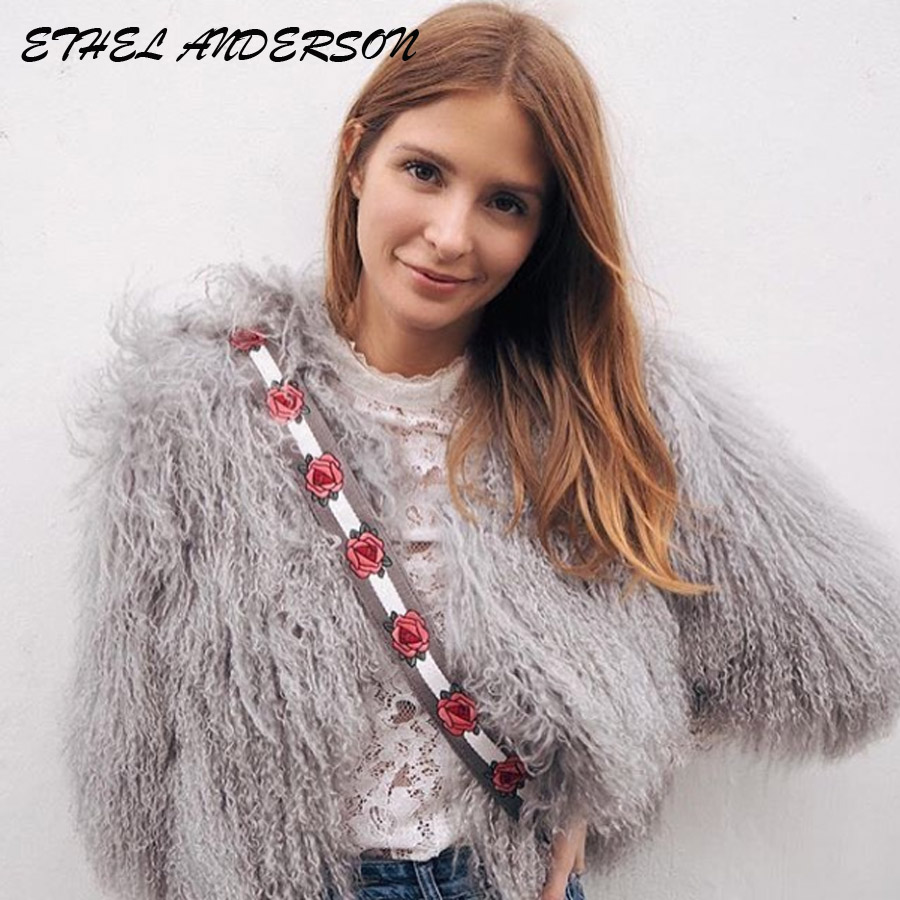 milan Real Fur Coats Women s Brand famous Genuine lamb Fur jacket