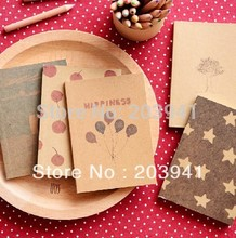 1pc/lot Vintage Paint Pattern Star Balloon Tree Cherry Notebook Paper Notepad Memo Inner Page Pocket Book Kawaii Diary Book fantasy star hand book japanese hand painted blank inner page diary book color page illustration notebook