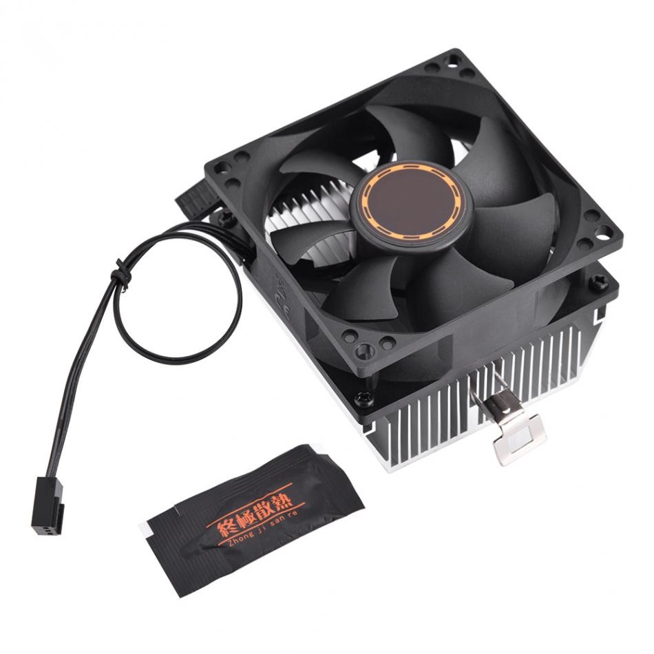 80 * 80 * 25mm Computer CPU Cooling Cooler Quiet Fan Heat Sink For K8 series 754 939 940 processor AMD Athlon 64 5200