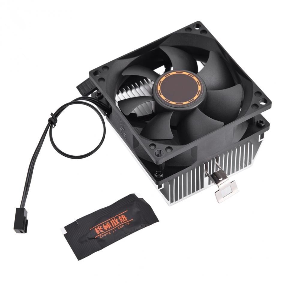 80 * 80 * 25mm Computer CPU Cooling Cooler Quiet Fan Heat Sink For K8 series 754 939 940 processor AMD Athlon 64 5200
