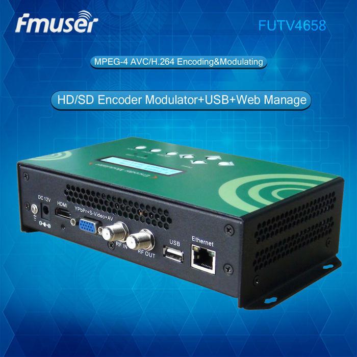 FUTV4658 DVB-C(QAM)/DVB-T/ATSC/ISDBT MPEG-4 AVC/H.264 HD Encoder Modulator video encoder original satlink ws 7990 4 route dvb t modulator av hdmi four router dm modulator dvb t av hd digital rf modulator