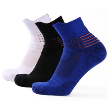 цена Sport Socks Running Jogging Hiking Cycling Thick Breathable Non slip Basketball Football Soccer Socks Calcetines Ciclismo Hombre