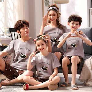 Image 2 - Summer 2019 New Childrens Pajamas Set Cartoon Family Matching Outfits Mother and Daughter Sleepwear Dad Son Pyjama Suit Lounge