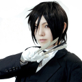 Hot Sale Black Butler Sebastian Michaelis Black Short Cosplay Wigs