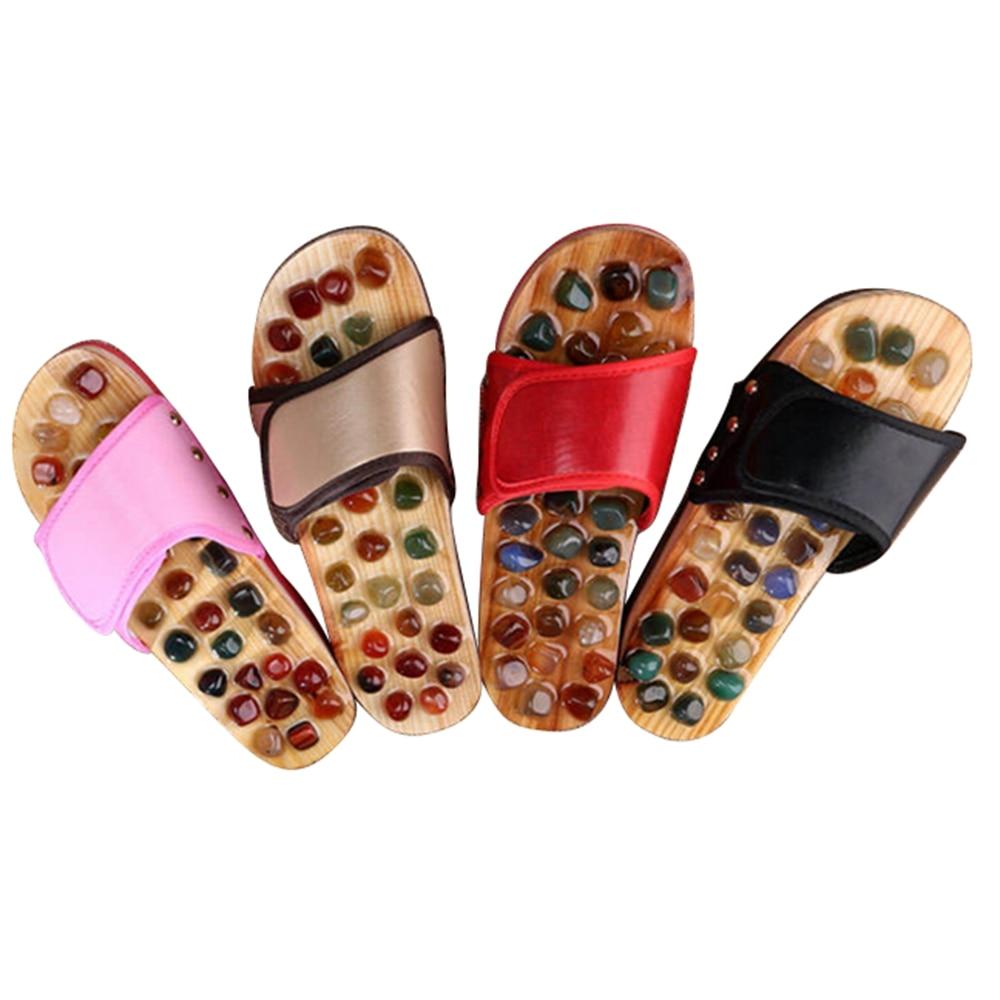 Slipper Massage Pebble Stone Reflexology Massage Feet Acupuncture Health Shoes Sandal Massage Slippers 5Color Healthy MP0039