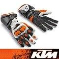 Ktm guantes gp-pro guantes conductores de motocicletas off-road guantes de moto guantes guantes de moto de carreras de cuero as027 negro blanco orange tamaño m l xl