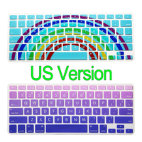 Rainbow Silicone Keyboard Cover For Apple Macbook Air Pro Retina 13 15 17 Protective Stickers For
