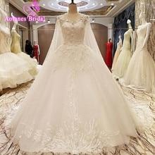 AOLANES Gorgeous A Line Wedding Dresses 2017 Sleeveless