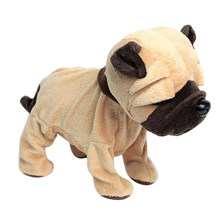 Plush Doll Lovely Electronic Dogs Pets Stand Walk Sound Control Interactive Robot Toy Birthday Gifts for Kids Speelgoed @6204
