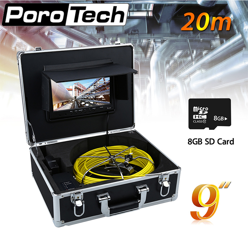 WP90C-20m sewer Endoscope camera Kitchen sewer check yellow cable with suitcase High quality professional