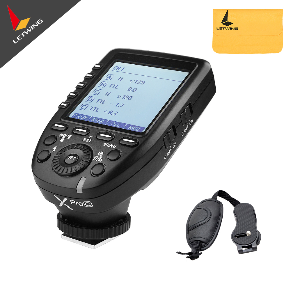 Pre-sale Godox XPro-C Flash Trigger Transmitter with Professional Function Support E-TTL II Auto Flash for Canon Camera yn e3 rt ttl radio trigger speedlite transmitter as st e3 rt for canon 600ex rt new arrival