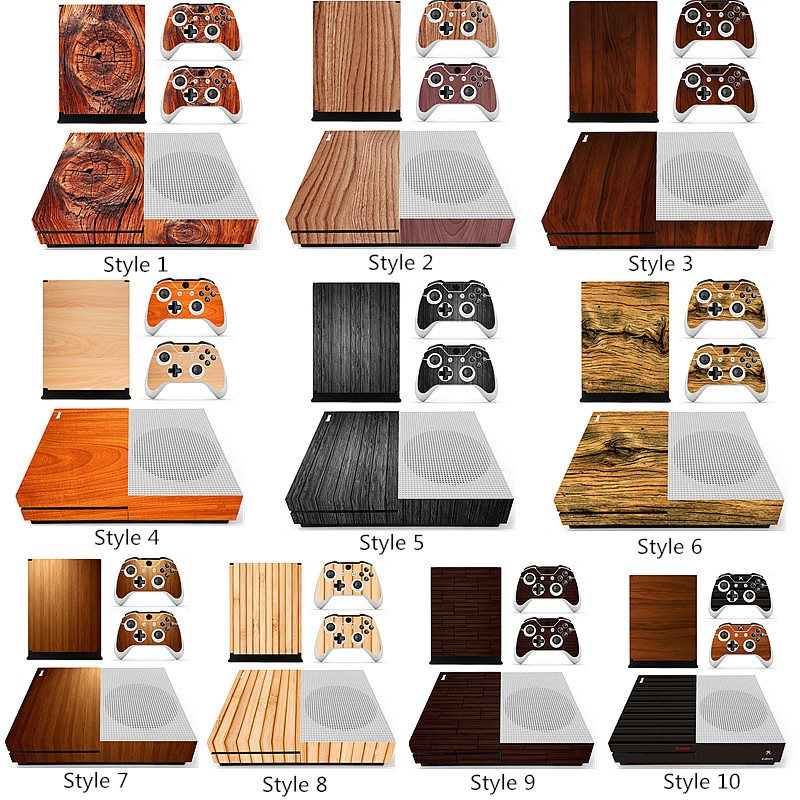 Vinyl Decal Skin Sticker For  S Gaming Console+2 Controller Protective Decal Cover Wood Grain Series