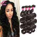 Brazilian Body Wave Virgin Hair With Closure Brazilian Virgin Hair 4 Bundles Body Wave 7A Unprocessed Virgin Hair Queen Hair