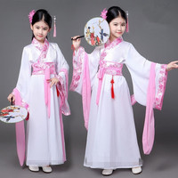 Kids Traditional Chinese Dance Costumes for Girls Dresses Qing Court Tang Suit Dynasty Cheongsam Dress M93