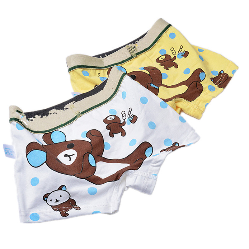 adiasen Boys 2-Packs Cartoon Bear cotton Underwear Hipster Knickers Briefs Boxer print