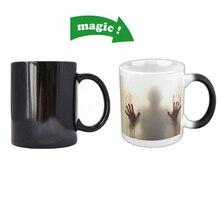 The Walking Dead Becher Veränderbare Farbe Kaffee Mug Wärme Offenbaren Empfindliche Morphing Tee Tasse Geschenke für Weihnachten Neujahr Geschenk