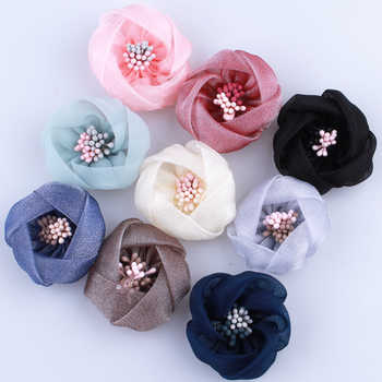 120PCS 4CM High Quality Mini Silk Flower With Stamen Make Girls Women Beautiful Fabric Flower For Head Wear U Pick Color - DISCOUNT ITEM  20% OFF All Category