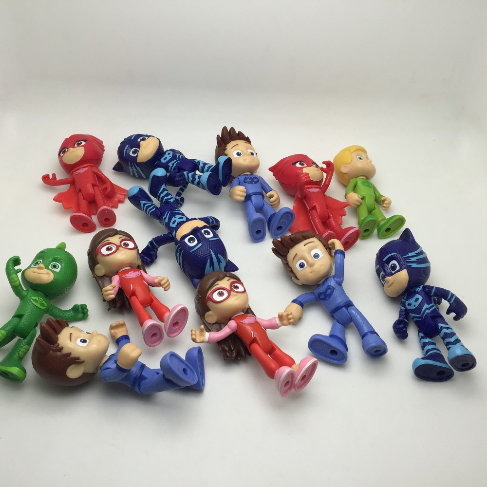 Randomly sending 5pcs/set Characters Action Figure Toys Boy Birthday Gift Plastic Dolls