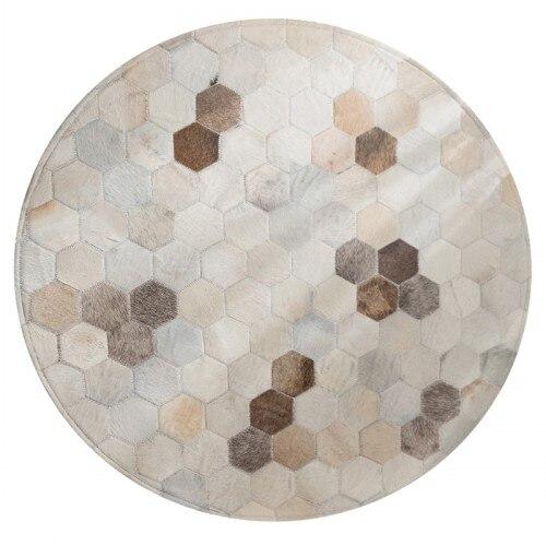 Американский стиль круглой формы из натуральной воловьей кожи прошитый ковер, натуральная коровья кожа мех ковер для гостиной спальни украшения - Цвет: as picture