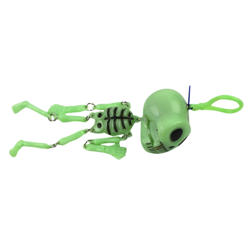 top grand halloween decorations childrens toys luminous small skeleton shelf key chain pull pull ghost decorations a41