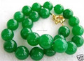 Free shipping Fashion 2015 ! Style diy AAA 10mm Natural Green Jade round Bead Necklace 18 inches 2 piece/lot jewelry JT6544
