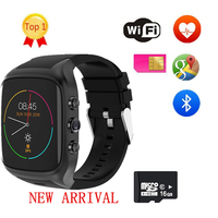 2018 X4 X02 3G WiFi X01S Android Smartwatch Phone Bluetooth Smart Watch 1.3GHz Dual Core IP67 GPS Watch Cam RAM 512M Heart Rate