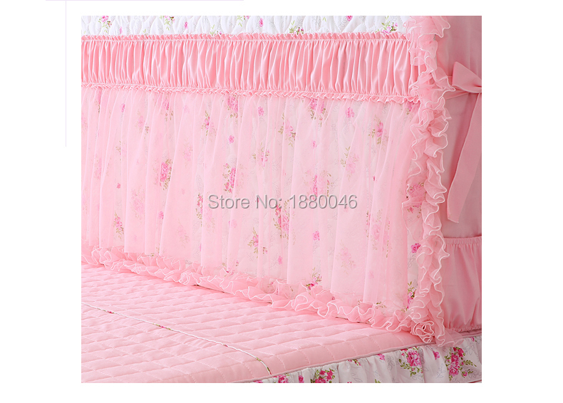 High Quality Romantic Princess bed Bedspread bed head cover Bed Headboard Cover Wedding Decorative Embroidery Cushion Cover in Bedspread from Home Garden