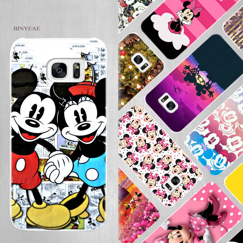 BINYEAE Minnie mouse Hard White Case Cover for Samsung Galaxy S5 Mini S6 S7 S8 Edge Plus Note 4 5 8