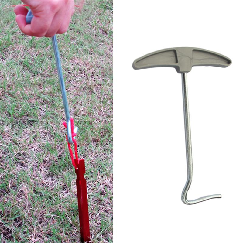 Outdoor Camping  Tent Peg Stake Puller Extractor Remover Lifter Iron /& ABS Tool